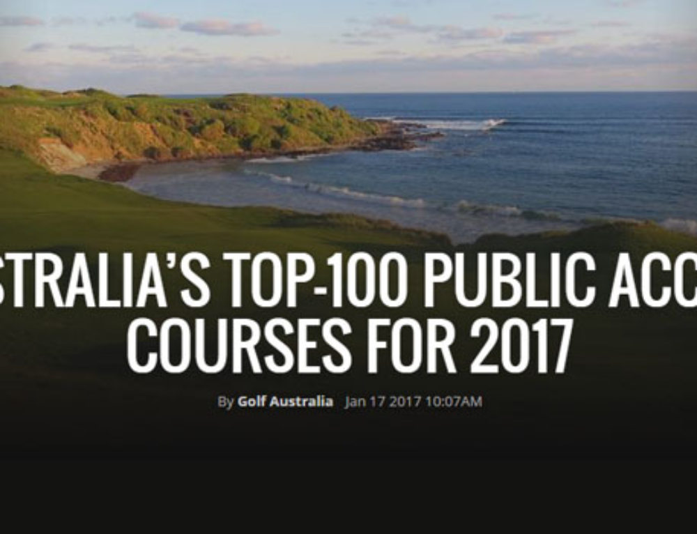 Ocean Dunes Ranked 4th Best Public Course