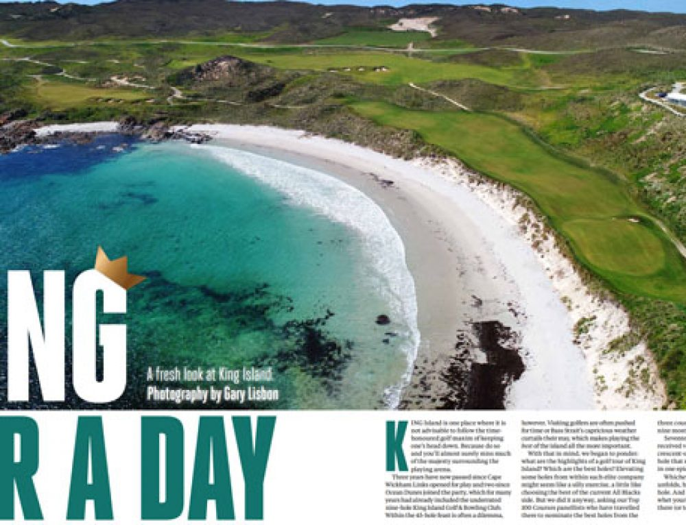 Australian Golf Digest December – King For A Day